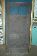 """Antique Vintage Solid Wood 4 Panel Door & Windows 70-3/8 x 32"""""""