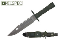"12"" Army Military Tactical Survival Combat Fixed Blade Bayonet Knife - Green"