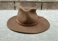 Dorfman Pacific Men's Western Cowboy Outback Scala 100% Wool Hat | Large