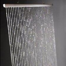 Iridescent Faux Crystal Beaded Curtain Clear Home Garden Window Decor Door Room