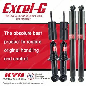 Front + Rear KYB EXCEL-G Shock Absorbers for HOLDEN Rodeo RA 4JH1TC 3.0 DT4 RWD