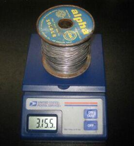 1960s ALPHA Solder Roll 40/60 Alloy .050 Dia. CEN-TRI-CORE ENERGIZED ROSIN 4 LB