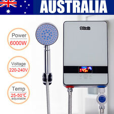 Instant Electric Tankless Hot Water Heater System Under Sink Tap Faucet 6000W AU