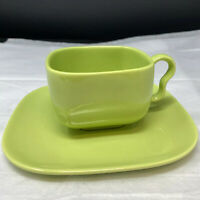 Set of Franciscan TIEMPO Avocado Green Green Coffee Cup and Saucer