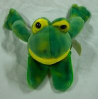 "Mary Meyer NICE SOFT GREEN FROG FINGER PUPPET 6"" Plush STUFFED ANIMAL Toy"