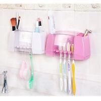 Multifunctional toothbrush holder storage box bathroom  suction hooks SE