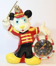 Etic Japan MICKEY MOUSE Band Leader QUARTZ Alarm CLOCK 1989