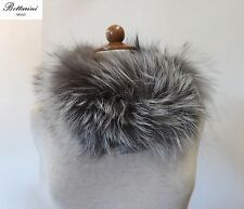 giro collo PELLICCIA VOLPE argentata FOURRURE de RENARD silver FOX fur colletto