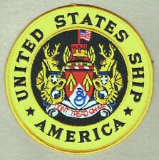 "USN Navy Patch:  Ship - USS America CV 66 - 5"" on twill"
