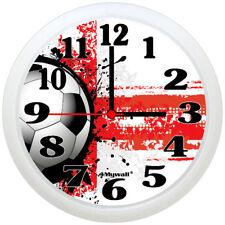 "England Football Clock, Football Wall Clock, 9"" in."