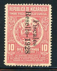 "Nicaragua Revenue Specialized: 10c Consular ""Fiscales Resello 1928"" $$$"