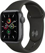 Apple Watch SE 40mm Space Gray Aluminum Case with Black Sport Band (GPS)