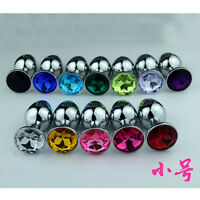 Metal Anal_Toy Smooth Touch_Butt Plug_Stainless_Steel_ Plug_for Male Female**