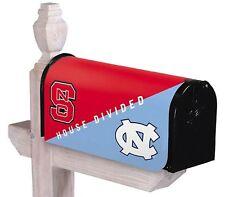 North Carolina & Nc State House Divided Mailbox Cover Tar Heels & Wolfpack Ncaa