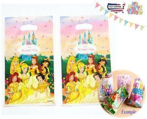 Gift Bag D.Princesses Gold ,chocolate,candies,toy, Souvenir Bag Theme 20pc