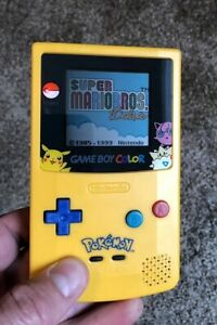 Gameboy Color Pokemon Pikachu Edition Nintendo System Blue & Yellow - No Game -