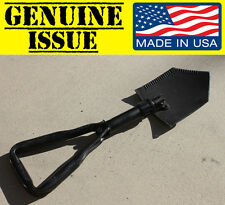 GENUINE US MILITARY Trifold FOLDING SHOVEL E-Tool Entrenching ames usgi army od
