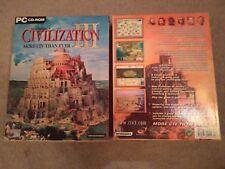 SID MEIER'S CIVILIZATION III 3 MORE CIV THAN EVER 2001 PC CD-ROM BIG BOX WINDOWS