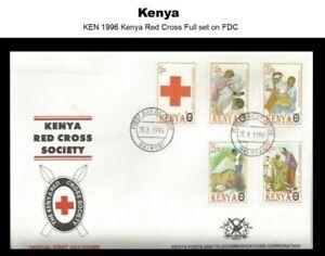 Stamps Kenya 1996 Kenya Red Cross Society Full set and FDC