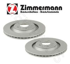 Set of Two Rear Disc Brake Rotors Vented 330mm for Audi A4 A5 A6 Quattro Q7 S5