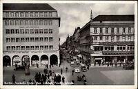 Berlin s/w AK ~1940  Verkehr Unter den Linden Friedrichstraße Haus der Schweiz