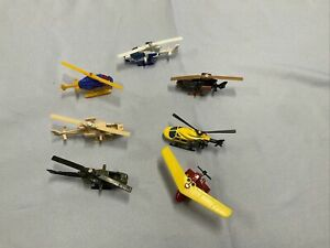 diecast 1/64 misc helicopters lot lot of 7