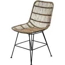 HANDCRAFTED RATTAN WICKER ASIAN STYLE DINING CHAIR (H18841)