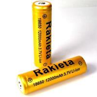 2 x RAKIETA gold 12000 mAh Lithium Ionen Akku 3,7 V  Typ 18650 Li  - ion je 45 g