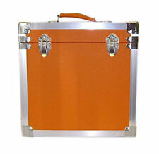 Orange 12 Inch Album LP Vinyl Leatherette Record Box Storage Flight Carry Case