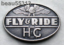 "HARLEY DAVIDSON OWNERS GROUP HOG  ""FLY & RIDE"" DISCONTINUED PROGRAM PIN"