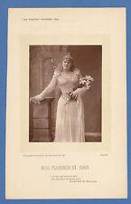 THE THEATRE -  VERY RARE THEATRE PHOTOGRAPH / CARD - MISS  FLO  ST.  JOHN - 1893