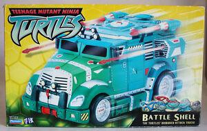 RARE 2002 TMNT MUTANT NINJA TURTLES BATTLE SHELL ARMORED ATTACK TRUCK NEW MISB !