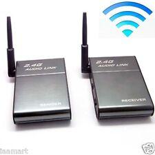 2.4GHz 2.4G 16CH Channel WiFi Wireless Audio Sender Transmitter Receiver