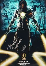 Mickey Rourke Stan Lee Iron Man 2 Movie Poster Signed Autographed AUTHENTIC