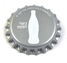 Coca-cola Coke tapita Bottle Cap plástico sellado israel 2007 frasco blanco