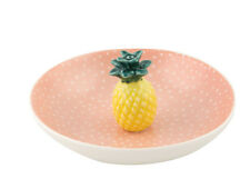 Tropical PINEAPPLE Ananas Dish Deko SCHALE / Ring Halter Rockabilly