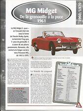 FICHE DESCRIPTIVE - TECHNIQUE - LA MG MIDGET DE 1961