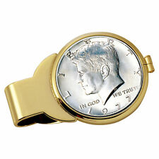 NEW Year to Remember Goldtone Half Dollar Coin Money Clip 1998