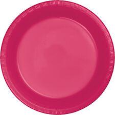 "20 Hot Magenta Pink Wedding Birthday Party Tableware 9"" Plastic Lunch Plates"