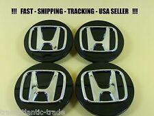 4 Black Center Caps Wheel Set for Honda CRV CIVIC ELEMENT ODYSSEY ACCORD PILOT