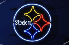 New Pittsburgh Steelers NFL Football Real Neon Sign Beer Bar Light FAST SHIPPING