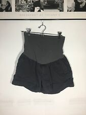 MAVI A Pea in the Pod Grey/Gray High Waist Maternity Shorts Secret Fit Belly M