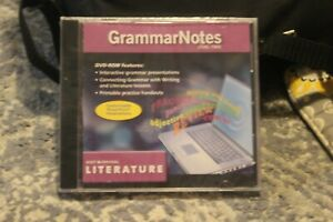 Holt McDougal Literature DVD-ROM  GrammarNotes Level Two New Sealed English