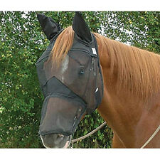 Cashel Fly Mask Draft Horse Long Covers Nose Ears Quiet Ride For Trail