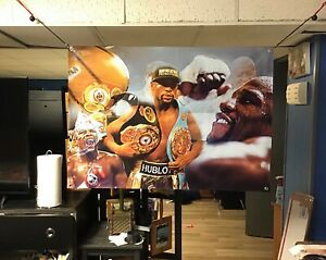 HUGE 44x30 Floyd Mayweather Vinyl Banner POSTERl boxing  Muhammad Ali mike Tyson