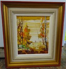 Signed Bill Zuro (1923-1985) Canadian Oil Painting on Panel