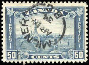 1930 Used Canada 50c F+ Scott #176 King George V Arch/Leaf Stamp