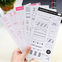 6 Sheet DIY Calendar Photo Paper Stickers Scrapbook Diary Planner Decorations