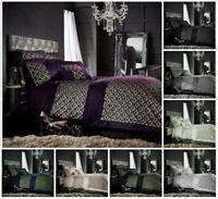 Designer TESSELLA Sequinned Glittery Duvet Quilt Cover Set Bed Set Or Bed Runner