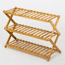 3/5-Tier Bamboo Folding Shoe Rack Storage Organizer - Bamboo Wooden Pergola